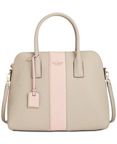 kate spade new york Cameron Stripe Racing Stripe Satchel - Designer Handbags - Handbags & Accessories - Macy's