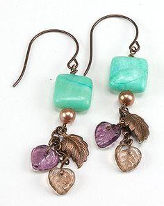 Jewelry Making Idea: Falling Leaves Earrings (eebeads.com)