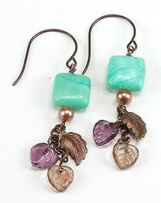 Jewelry Making Idea: Falling Leaves Earrings (eebeads.com)
