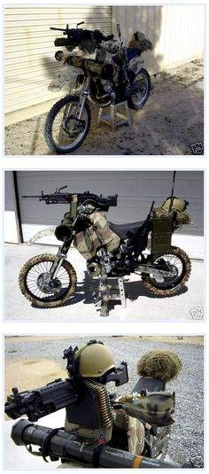 Combat Motorcycle - interesting to say the least... Wanted for the beltway on certain days!
