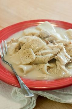 The ultimate comfort food! These chicken and dumplings are just like what they serve at Cracker Barrel.