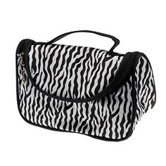 Kinghard Ladies Makeup Cosmetic Case Toiletry Bag Zebra Travel Handbag -- Be sure to check out this awesome product. (Note:Amazon affiliate link)