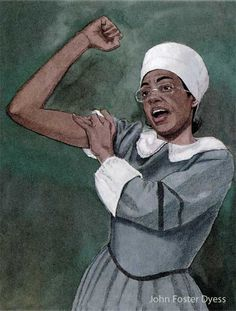 "These are illustrations for ""Walking the Road to Freedom : A Story About Sojourner Truth"". Steck-Vaughn Think- Alongs Rosie The Riveter, Cool Pins, Looking For Women, Black History, Give It To Me, African, Barns, Mud, Illustration"