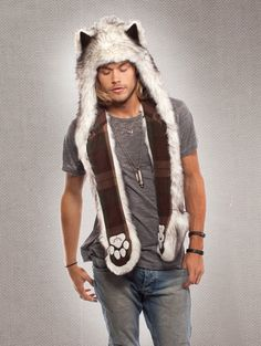 Spirit hood :: ADULTS :: Men's Full Hoods :: Husky I admit these look silly but gosh I bet they're good for cold winter sporting events.