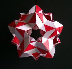 Stargazer Kusadama, Origami ball by TheArtFolder on Etsy