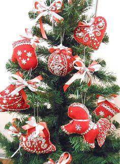 """Купить набор елочных игрушек """"год лошади"""" - ярко-красный, Новый Год, год лошади"""