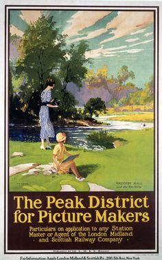 'The Peak District for Picture Makers', LMS poster, 1923-1947.