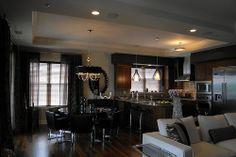 Vesta Rods, drapes, sheers in Modern Living Room for Joan Stapelman Designs / Roseland Property