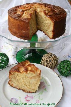 Bizcocho de manzana sin grasa El Ágora de Ángeles Sweet Recipes, Cake Recipes, Bolivian Food, Pie Cake, Breakfast Dessert, Muffins, Desert Recipes, Light Recipes, Cakes And More