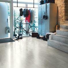 Select floors range of laminate flooring, hardwood wood flooring, semi solid and engineered solid wood floors.Porcelain Tiles and designer Italian Tiles. Types Of Wood Flooring, Solid Wood Flooring, Concrete Floors, Vinyl Flooring, White Flooring, Beton Design, Tile Design, Cork Wood, Tile Stairs
