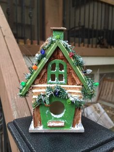 #Birdhouse #Ornament #Gift #Christmas #Craft #Holiday Michelle Dornstreich by BirdhousesByMichelle on Etsy