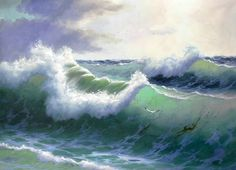 Image result for painted ocean waves