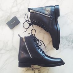 Having a boot moment. These arrived yesterday and I'm in serious love. Saint Laurent Ranger Zipper. Is it odd to wear combat boots during the last days of sandal weather? #saintlaurentranger