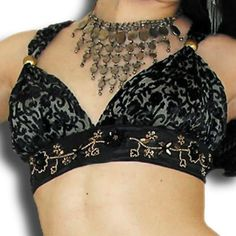 Scarlet's Lounge Belly Dance Apparel / Jeweled Halter Top