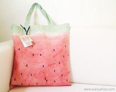 Watermelon Canvas Tote - Wainu Shiao
