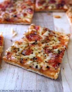 St. Louis-style pizza has a super thin, no yeast crust topped with pizza sauce, provel cheese and Italian seasoning.