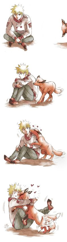 Naruto and Kurama. Love, love, love this