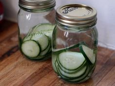 Homemade Cucumber-infused Gin - Can't wait to make some green gimlets!
