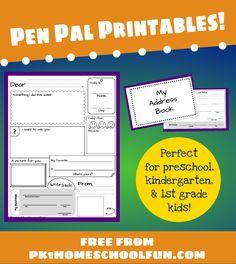 Free Pen Pal Printables!
