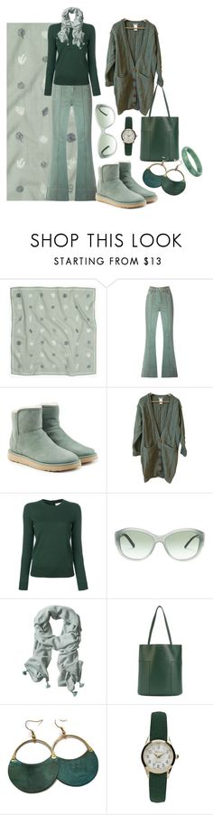 """Green Pistachio."" by paula-montecchiarini ❤ liked on Polyvore featuring Madewell, Amapô, UGG, Chloé, Tory Burch, Burberry, Banana Republic and Geneva"