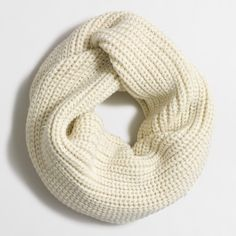 J. Crew Metallic Knit Infinity Scarf Heavy, ribbed infinity scarf with silver threads throughout. J. Crew Accessories Scarves & Wraps