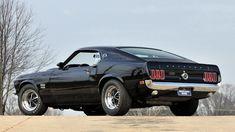 Baixar Wallpaper chefe, muscle car, ford, 429, mustang, Mustang, volta de 1969, preto, preto, Ford, carro do músculo, seção de ford resolução 1920x1080