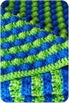 Striped Bobble Baby Blanket
