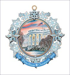 White House Historical Association 2009 ornament illustrates the special place of the Christmas tree in the holiday celebrations of President Cleveland's young family. White House Ornaments, White House Christmas Ornament, Christmas Past, George Washington Pictures, Us White House, Vintage Ornaments, Vintage Holiday, Christmas Pictures, Red And White