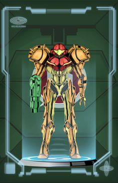 Metroid Poster - Power Suit by HellGab.deviantart.com on @deviantART