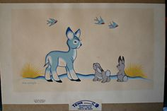 Vintage screen print by Acee Blue Eagle- I have this painting, an original copy