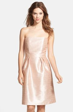 Alfred Sung Strapless Dupioni Dress available at #Nordstrom