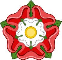 Red Rose Badge of Lancaster - Tudor rose - Wikipedia, the free encyclopedia Tudor History, British History, Tudor Dynasty, Tudor Rose, Mary Tudor, Wars Of The Roses, Plantagenet, English Roses, Cross Stitch Flowers