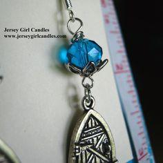 Faerie Door Earrings — Turquoise Glass Crystal