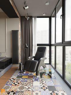 Faça da sacada de vidro o seu lugar preferido da casa Apartment Balcony Decorating, Interior Decorating, Interior Design, Loft Design, House Design, One Room Flat, Modern Balcony, Condo Living, Balcony Design