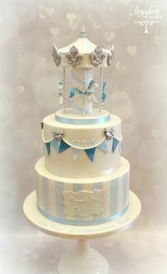 Baby Shower Cupcakes, Shower Cakes, Luxury Wedding Cake, Wedding Cakes, Christening Cake Girls, Carnival Cakes, Carousel Cake, Baby Boy Cakes, Fairy Cakes