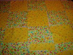 Using old baby blankets & receiving blankets make into Rag Quilts for the girls
