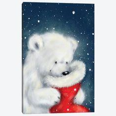 Christmas Scenes, Noel Christmas, Christmas Animals, Polar Bear Christmas, Xmas Wallpaper, Christmas Phone Wallpaper, Canvas Artwork, Canvas Art Prints, Christmas Lockscreen