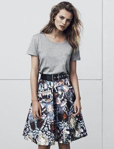 H&M | tee and skirt