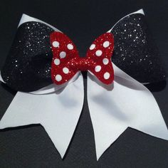 Minnie Mouse Cheer Bow by BowsByTeri on Etsy from Bows by Teri. Saved to Cheer apparel. Disney Cheer Bows, Cute Cheer Bows, Cheer Hair Bows, Cheer Mom, Cheer Stuff, Mickey E Minie, Minnie Mouse Bow, Softball Bows, Cheerleading Bows