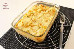 Gratin de pâtes à la fondue de poireaux et mozarella
