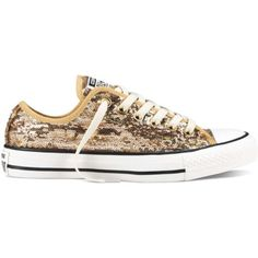 Converse Women's Chuck Taylor All Star Sequin Flag Athletic ($53) ❤ liked on Polyvore featuring shoes, sneakers, converse trainers, sparkle shoes, converse shoes, star shoes and sparkle sneakers