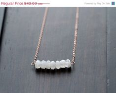 SALE Moonstone Nugget Necklace 14k Rose Gold by SaressaDesigns