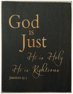 Jeremiah 23:5 KJV ~ Behold, the days come, saith the LORD, that I will raise unto David a righteous Branch, and a King shall reign and prosper , and shall execute judgment and justice in the earth.