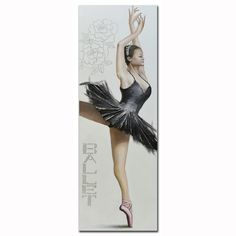 A timeless solution for the decoration of your home. Canvas Wall Art, Classic Style, Ballerina, Paintings, Collection, Paint, Painting Art, Painting, Ballerina Drawing