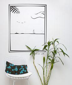 O adesivo de parede pode dar um toque moderno na decoração da sua casa.
