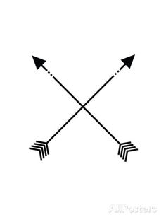 Black White Arrow Print by Jetty Printables at AllPosters.com