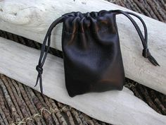 Men's Leather Pouch Bag Coin Pouch by Shirlbcreationstoo on Etsy, $22.00