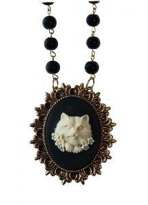 Le Chat kissa kaulakoru musta-luonnonvalkoinen