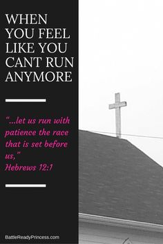 We're running, not just for Christ, but also to Him. He is our example and our prize.