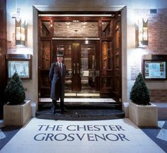A warm welcome. The Grosvenor Hotel in Chester, England. Great Places, Places Ive Been, Eaton Hall, Chester Cathedral, Chester Cheshire, Relaxation Room, Treatment Rooms, Tourist Information, Internal Doors